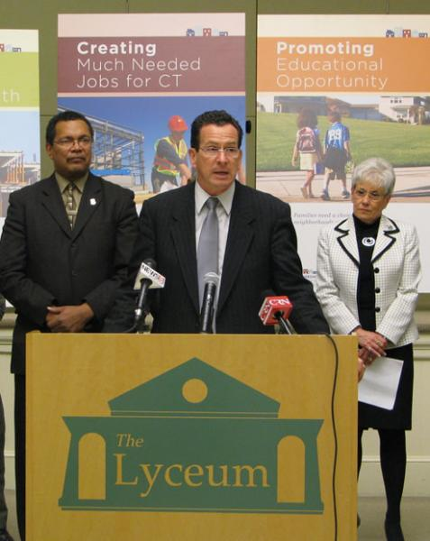 Governor Dannel Malloy describes details of his administration's Affordable Housing Initiative.
